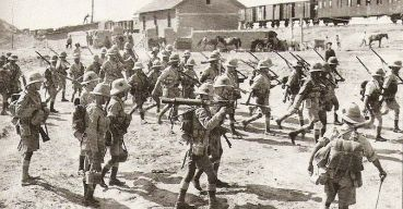 North Staffords - Dunsterforce marching for Baku